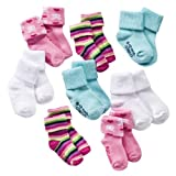 Newborn Infant Toddler Girls' Circo® Multi-Color 8 Pack Gripper Socks 0-6M