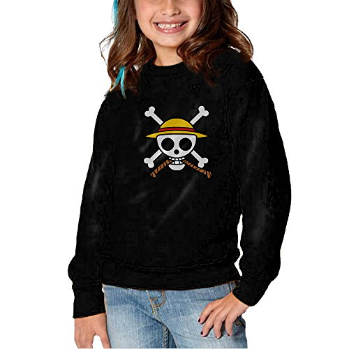 [Melon One Piece Skull Long Sleeve Round Neck Cute Sweatshirts Shirt For Toddler Kids] (Roomba Costume Pattern)