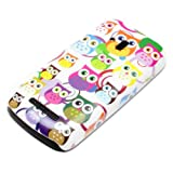 DeinPhone Hard Shell Protective Mobile Phone Case for Nokia Lumia 610 with Small Colourful Owls and Circles Design