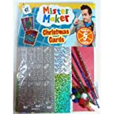 Mister Maker Christmas Card Making Kit, contains 5 cards with envelopes and includes coloured paper, pom poms, embellishments, glitter chenille stems and peel off stickers to create wonderful personally created cards and insturction sheet