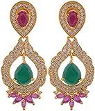 Violet & Purple Gold Plated Dangle & Drop Earrings For Women (1000030667)