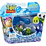 Toy Story - Colour Change Tubtime Buddies Figure 2 Pack - Buzz Lightyear & Cuddles