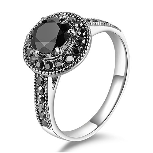 mytys retro vintage white gold plated black marcasite