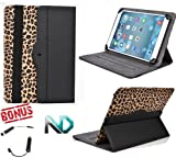 Tablet Case Stand - Compatible with Barnes & Noble NOOK HD (Black and Leopard Print) Universal for 7 - 8.1