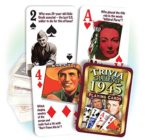 1945 Trivia Playing Cards 71st Birthday or 71st Anniversary Gift