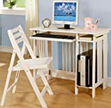 Ashland Bright White Computer Desk with Chair (2 Piece) Set