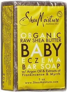 Shea Moisture Organic Raw Shea Butter Baby Eczema Bar Soap (Pack of 2)