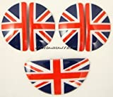 2010+ MINI Countryman (R60) Interior Door Handle Covers + Footlocker Cover (union jack) - plastic