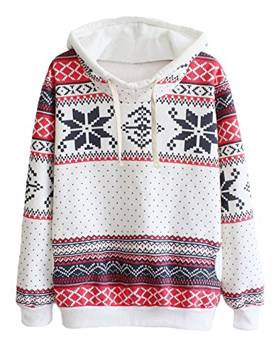 Snowflake Print Pullover