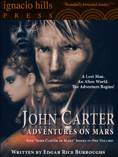 John Carter: Adventures on Mars Collection (Illustrated) (Five 