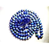 Urancia™ Natural Lapis Lazuli Mala Certified 108 Beads With Free Himalayan Quartz Crystal