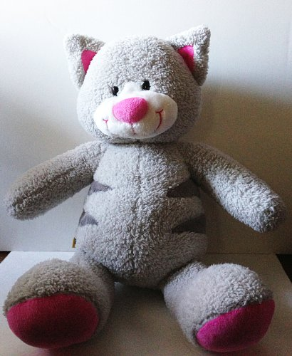 Build a Bear Gray Pink Snazzy Kitty Cat 16 Inch Plush Stuffed Animal - 1
