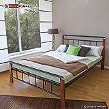 Homestyle4u Design Metallbett Bett Doppelbett 140 x 200 + Lattenrost 5072 schwarz