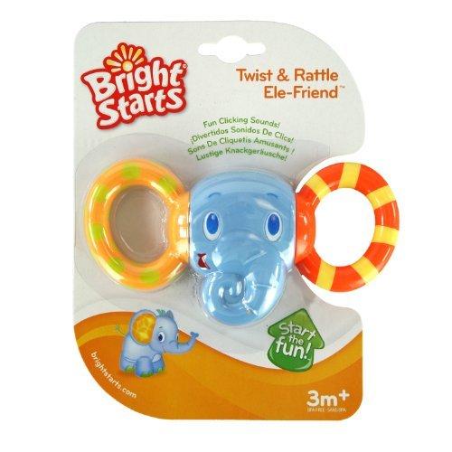 Bright Starts Ele-Friend Twist And Rattle Toy, Kids, Play, Children front-761546