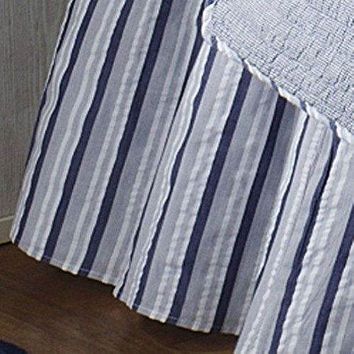 C and F Enterprises Nantucket Dream Stripe Coordinate Dust Ruffle