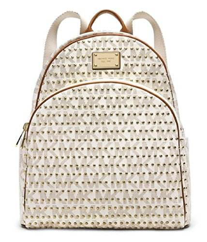 Michael Kors Jet Set Large Studded Backpack In Vanilla front-761035