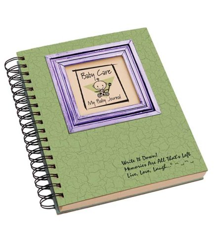 Baby Care, My Baby Journal - Avacado Hard Cover (prompts on every page, recycled paper, read more...)