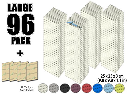 arrowzoom-new-96-pack-of-98-in-x-98-in-x-11-in-soundproofing-insulation-egg-crate-acoustic-wall-foam