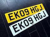 イギリス 英国 USEDナンバープレート 2枚組 EK09HGJ