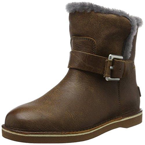 Shabbies AmsterdamShabbies buckle strap short boot 17cm Merino lammy lining Alexia - Stivaletti corti imbottiti Donna , Marrone (Braun (Africa)), 37 EU