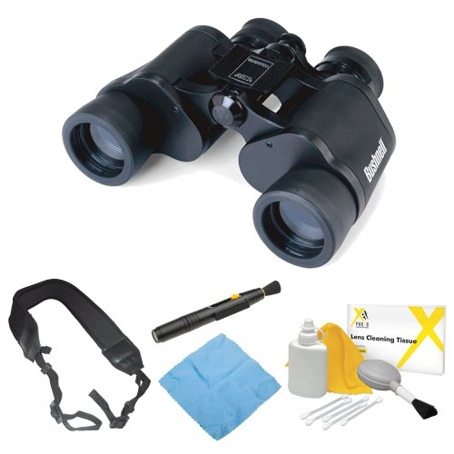Bushnell 133410 Falcon 7X35Mm Instafocus Porro Prism Binoculars + Zeikos Wide Strap + Accessory Kit