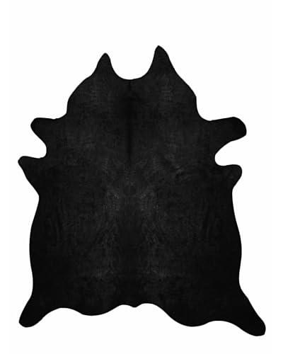 Natural Brand Geneva Cowhide Rug, Black, 6' x 7'
