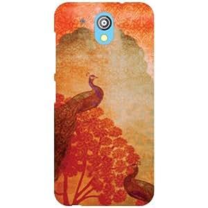 HTC Desire 526G Plus Back cover - Peacock Designer Cases