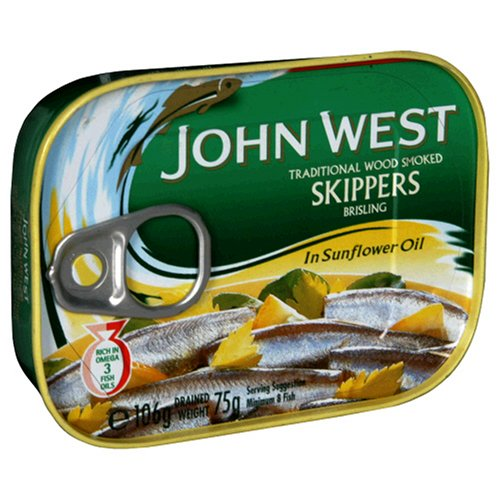 John West Skippers In Sunflower Oil, 3.7-Ounce Cans (Pack Of 12)