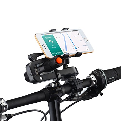 AutoStark Universal Bicycle Motorcycle Bike Frame Mobile Phone Holder Mount Waterproof Bag Case with Handlebar Bracket Mount Base