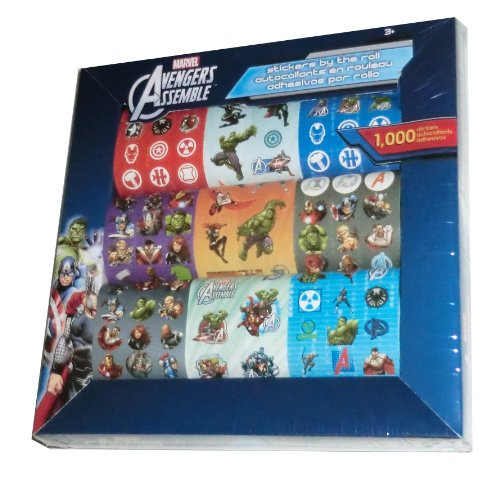 Marvel Avengers Stickers by the Roll - 1000 Stickers
