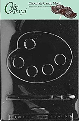 Cybrtrayd J069 Palette and Brush Brush Jobs Chocolate Candy Mold