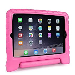 FAVOLCANO® Multi Function Kids Friendly Child Shockproof Safe EVA Foam Protective Case with Stand/Handle for Apple iPad Mini 1/2/3 (Rose Red)