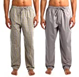 Noble Mount Mens 2pack Comfort-Fit Sleep/Lounge Pants