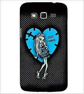 PrintDhaba XOXO Girl D-2076 Back Case Cover for SAMSUNG GALAXY GRAND 2 (Multi-Coloured)