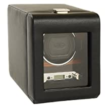 Wolf Designs Module 2.7 Roadster Single Watch Winder with Cover, Black