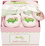 babyaspen 4-Piece Bathtime Gift Set, 0-6 months, Tillie the Turtle