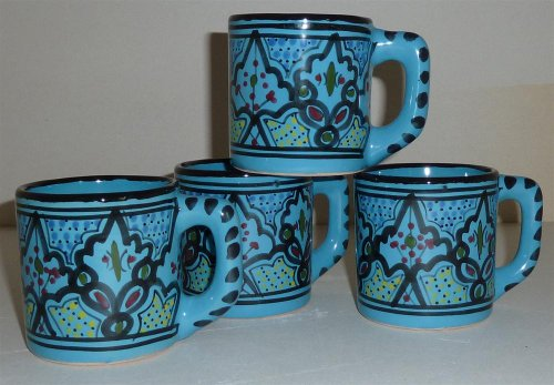 Le Souk Ceramique Coffee Mugs, Set Of 4, Sabrine Design