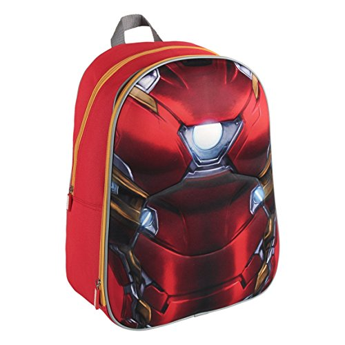 Marvel 2100001620 40 cm Iron Man 3d effetto Suit Zaino