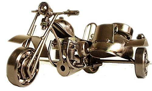 Zenness Retro M18 Handmade Motorcycle Model for Gifts, Decorations, Antique Copper