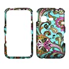 2D Blue Paisley Samsung S390G Net 10 Straight Talk Case Cover Hard Phone Case Snap-on Cover Rubberized Touch Faceplates