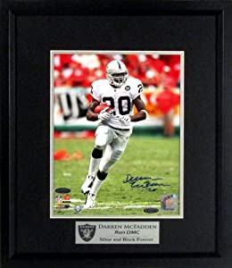 Darren McFadden Autographed Oakland Raiders 8x10 Photograph Framed w  Run DMC... by Sports Gallery Authenticated