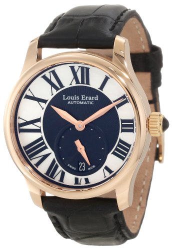 Louis Erard Women's 92602OR02.BACs6 Emotion Automatic Rose Gold Black Alligater Leather Watch