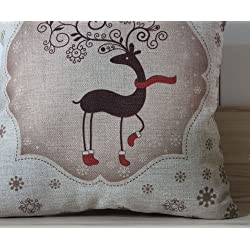 LINKWELL 45*45cm Deer Merry Christmas 2013 Best Gift Christmas EIK Linen Pillow Case