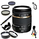 Tamron AF 18-270mm f/3.5-6.3 VC PZD All-In-One Zoom Lens for Canon DSLR Cameras. Includes: 3 Piece Filter Kit (UV-CPL-FLD), 4 Piece Macro Filter Set (+1,+2,+4,+10), Lens Hood, Lens Cap Keeper, Lens Cleaning Pen & Starter Kit