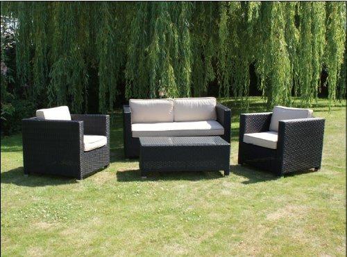 Rattan-Gartenmöbel-set, Chelsea 4-Sitzer-sofa, Braun