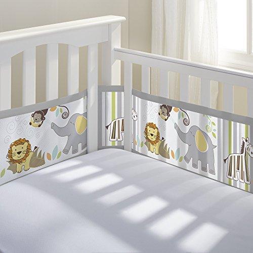 Breathable Mesh Printed Crib Liner Safari Fun (Baby Crib Liner compare prices)