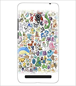 PrintDhaba Cartoon D-3827 Back Case Cover for ASUS ZENFONE 6 A601CG (Multi-Coloured)