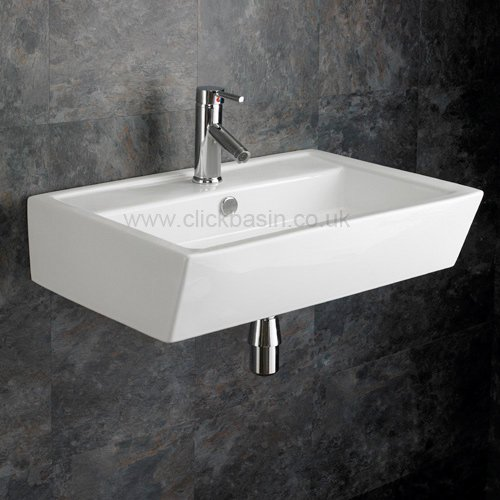 Stunning Clickbasin Cremona cm X cm Wall Mounted Rectangular Sink