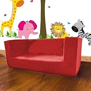 Shopisfy Children's Double Foam Mini Sofa Seat - Red from Shopisfy