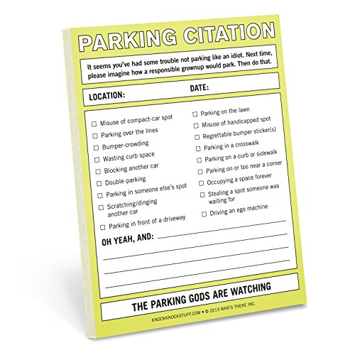Knock Knock Nifty Note Pad, Parking Citation (Spa Ticket Book compare prices)